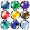 Векторный клипарт: глянцевой веб-кнопок