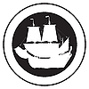 Vector clipart: Emblem of an old ship