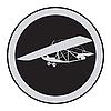 Vector clipart: Emblem of an vintage glider