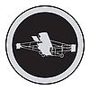 Vector clipart: Emblem of an vintage plane 2