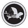 Vector clipart: Emblem of an vintage plane 3