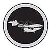 Vector clipart: Emblem of an vintage plane
