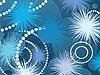 Vector clipart: Fantasy fireworks, conceptual design