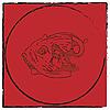 Vector clipart: Fish head emblem