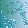 Vector clipart: Floral abstract foliage