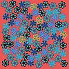 Vector clipart: Retro flowers