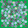Vector clipart: flowers on green