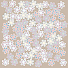 Vector clipart: Tan foral background