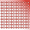 Vector clipart: Floral red background