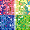 Vector clipart: Floral textures