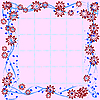 Vector clipart: Floral tile