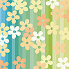 Vector clipart: Flowers and stripes
