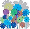 Vector clipart: Flower retro card