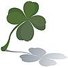 Vector clipart: Fresh four leaf clover