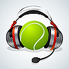 Vector clipart: Tennis comentator