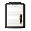 Vector clipart: Clipboard and pen