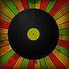 Vector clipart: Vintage vinyl record