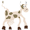 Vector clipart: Funny cow
