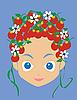 Vector clipart: Girl face
