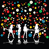 Vector clipart: Girls rock band