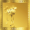 Vector clipart: gold frame
