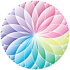 Vector clipart: Gradient wheel