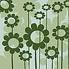 Vector clipart: Green floral icon