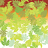 Vector clipart: Green leaves background