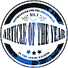 Vector clipart: article of the year - stamp