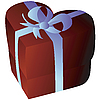 Vector clipart: Heartshape giftbox