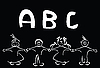 Vector clipart: Kids learning alphabet, art