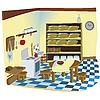Vector clipart: Kitchen interior scene