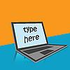 Vector clipart: Laptop text card