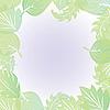 Vector clipart: leaf border