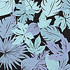 Vector clipart: night leaves composition