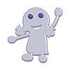 Vector clipart: Little girl waving