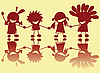 Vector clipart: Little indians