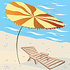 Vector clipart: Lounge on the beach