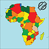 Vector clipart: Map of africa