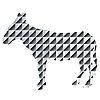 Vector clipart: Modern zebra