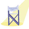 Vector clipart: Movie director chair