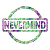 Vector clipart: Nevermind stamp