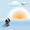 Vector clipart: Ocean scene