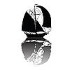 Vector clipart: boat silhouette