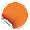 Vector clipart: Orange label