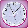 Vector clipart: Purple desktop clock