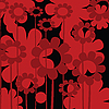 Vector clipart: Red floral icon