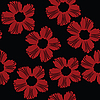 Vector clipart: Red floral pattern