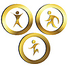 Vector clipart: Golden logo