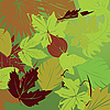 Vector clipart: repeating leaf background